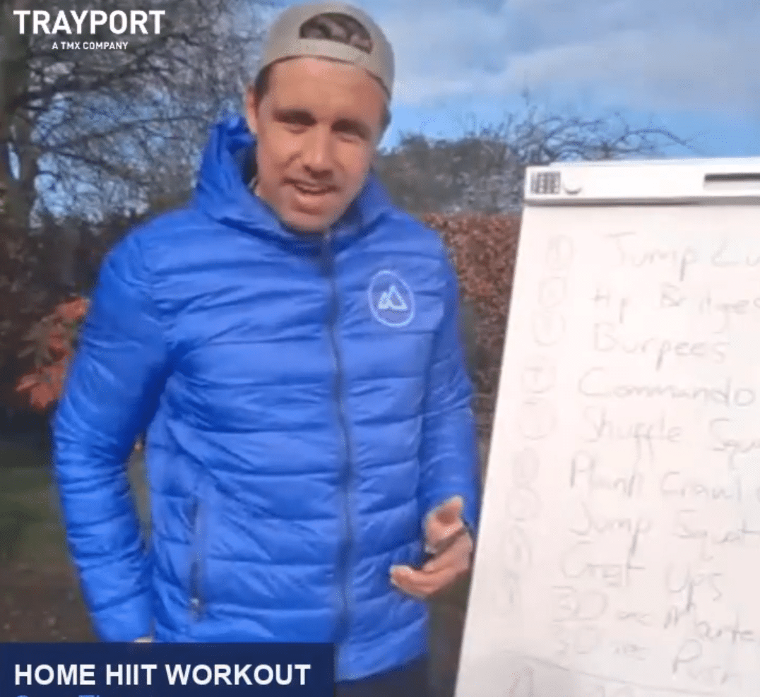 Trayport Work from Home Workout Video