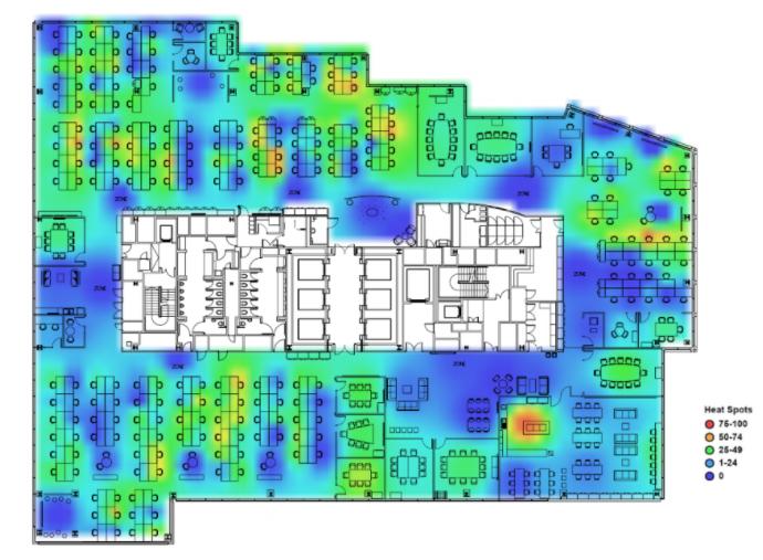 Trayport Office Heat Map